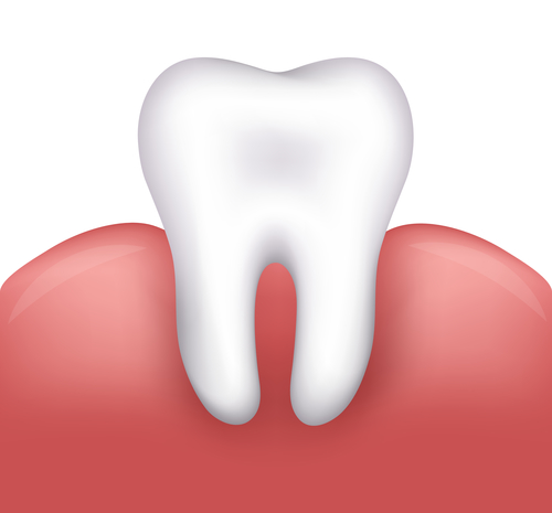 graphic of a tooth and healthy gums free of gingivitis