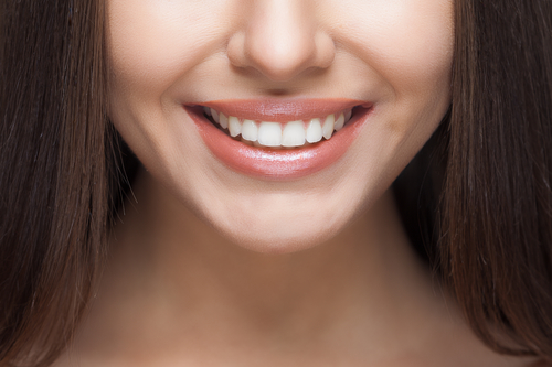 woman's perfect smile